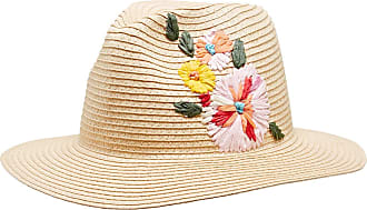 Joules Hats Dora Floral Embroidered Fedora Sun Hat - Natural 1-Size