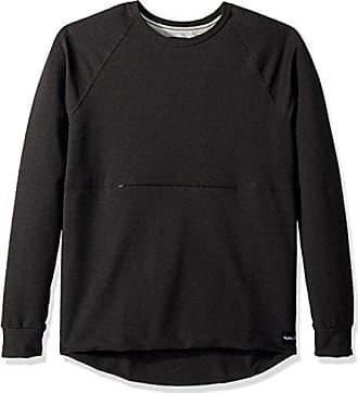 Hurley Mens Nike Dri-Fit Offshore Fleece Hoodie, Black Heather, S