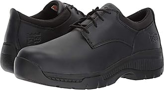 Timberland Valor Duty Oxford Soft Toe (Black Smooth Leather) Mens Industrial Shoes