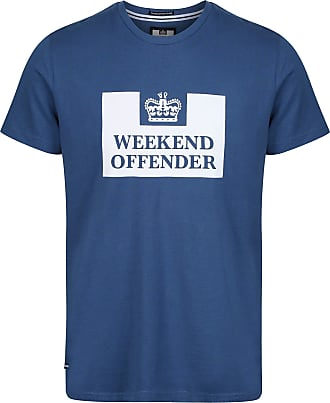 Weekend Offender Prison SS Tee Mens (X-Large, Blue)