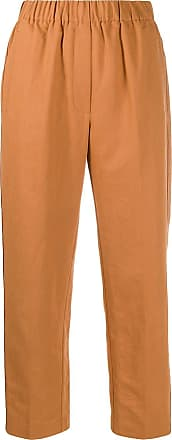 Forte_Forte crease effect high-waisted trousers - Brown