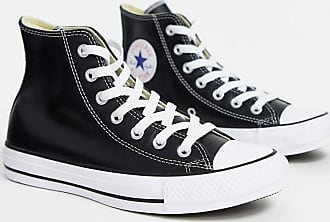 Converse Chuck Taylor All Star - Sneakers alte nere in pelle-Nero