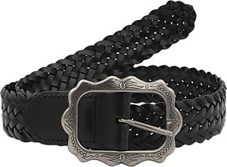 Woolrich 35mm Black Man-Made Plaited Woven Belt Medium (up to 32 Waist)