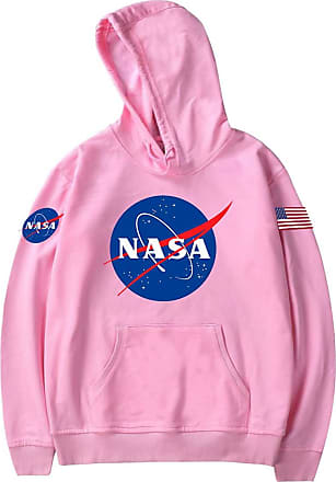 EmilyLe Girls NASA Classic Insignia Logo Youth Hoodie Space Shuttle Rocket Long Sleeve Jumper (140, Pink)