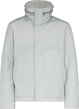 Yves Salomon zip-front puffer jacket - Grey