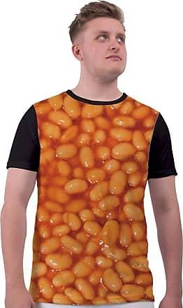 Bang Tidy Clothing Mens All Over Print T Shirt - Black - XL - Baked Beans