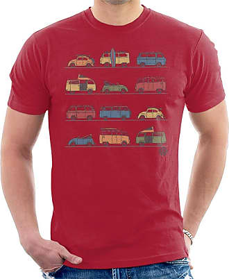 Volkswagen Vans and Beetles Mens T-Shirt Cherry Red