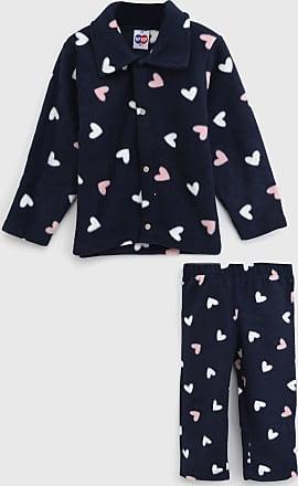 Tip Top Pijama Tip Top Longo Infantil Coração Azul-Marinho