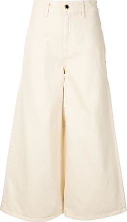 Khaite Calça jeans Darcy cintura alta - Neutro