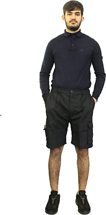 Saute Styles Mens Elasticated Waist Gym Cotton Casual Combat Cargo Shorts Summer Half Pants Black L