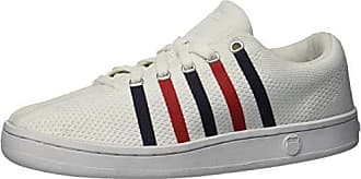 K-Swiss Womens Classic 88 Knit Sneaker, White/Navy/red, 7.5 M US