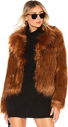 BB Dakota Penny Lane Faux Fur Jacket in Brown