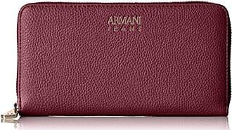 Armani Armani Jeans Pebble Faux Leather Contential Wallet, Nero