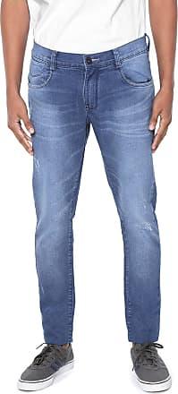 Hawaiian Dreams Calça Jeans HD Skinny Desgastes Azul