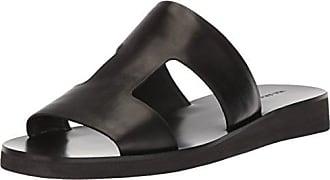Via Spiga Womens Blanka Flat Sandal, Black Leather, 6 M US