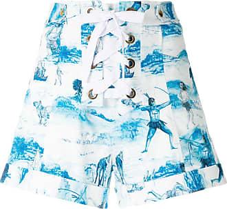 Isolda Short cintura alta estampado - Azul