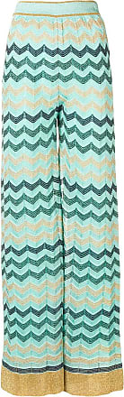 M Missoni wide leg knitted trousers - Blue