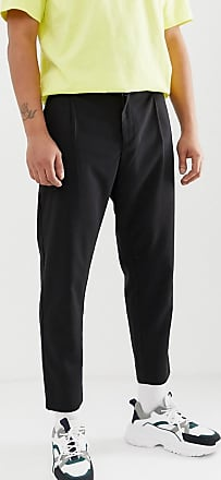 Weekday Mard tailored trousers in black