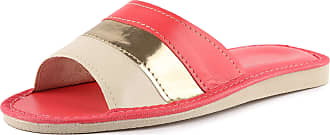 Ladeheid Womens Slippers House Shoes LAFA053 (Red/Creme, 38 EU = 5 UK)