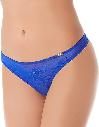 Gossard Womens Glossies Lace Thong Size Medium in Electric Blue