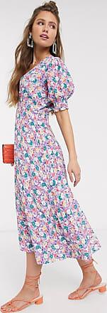 Faithfull The Brand Faithfull The Brand marie-louise floral midi dress-Purple