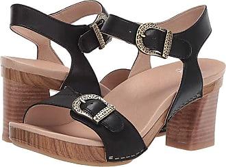 cfd82786fa0b5 Dansko Anna (Black Burnished Calf) Womens Dress Sandals