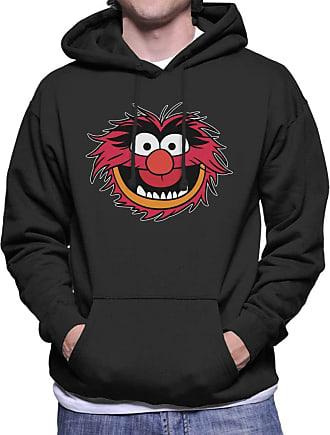 Disney Classic The Muppets Animal Grin Mens Hooded Sweatshirt Black