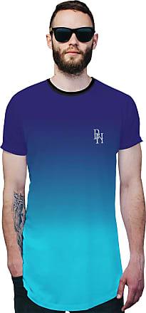 Di Nuevo Camisa Longline Azul Céu Degradê Azul Oceano