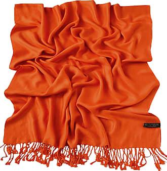CJ Apparel Orange Solid Colour Design Shawl Scarf Wrap Stole Throw Pashmina Pashminas CJ Apparel NEW