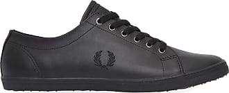 Fred Perry TÊNIS MASCULINO KINGSTON LEATHER - PRETO