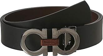 Salvatore Ferragamo Adjustable/Reversible Belt (Nero/Auburn) Mens Belts
