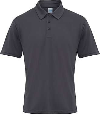Just Cool Mens Plain Sports Polo Shirt (2XL) (Charcoal)