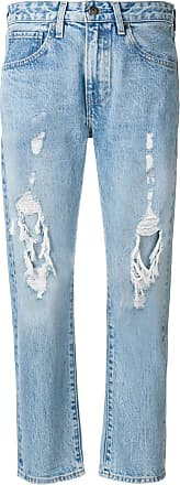 Levi's destroyed cropped jeans - Blue