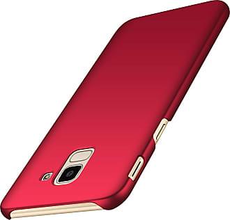 Generic Galaxy J6 2018 Case, Ultra Thin Sleek Hard Plastic Case Anti-Scratch Anti-Fingerprint Protective Matte Shell Cover 5.6 (Galaxy J6, Red)