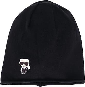 Karl Lagerfeld K/Ikonik beanie hat - Preto