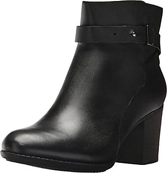 Clarks Womens Enfield Sari Ankle Bootie Black Leather 5 M US