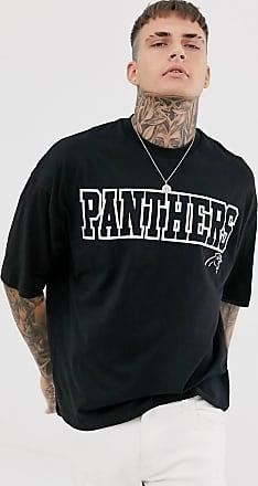 Asos NFL Panther - Oversize-T-Shirt mit beidseitigem Print-Schwarz