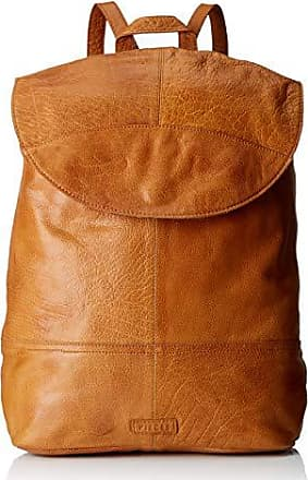 Pieces Pctyra Leather Backpack, Sacs portés dos femme, Marron (Cognac),  16x32x37 c46ac883a66