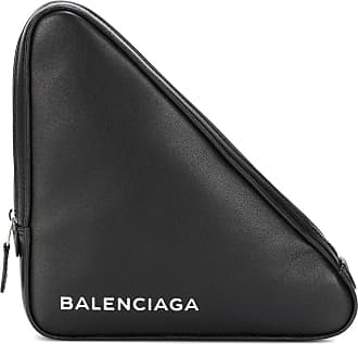 Balenciaga Triangle M leather clutch