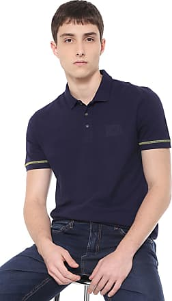 81104525c Calvin Klein Jeans Camisa Polo Calvin Klein Jeans Reta Logo Azul-marinho