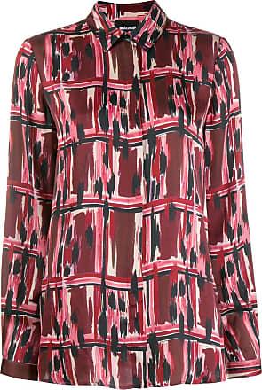 Just Cavalli Camisa mangas longas com estampa - Vermelho