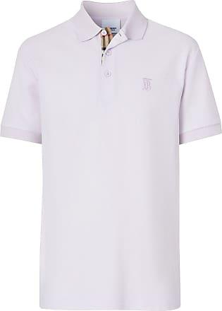 Burberry Camisa polo mangas curtas com aplicação monogramada - Neutro