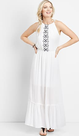 Maurices Embroidered Halter Top Maxi Dress