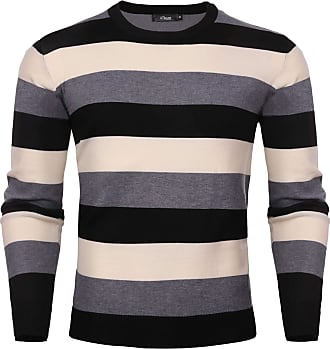 iClosam Mens Jumper Crew Neck Set-in Classic Sweater Pullover Sweatshirt S-XXL