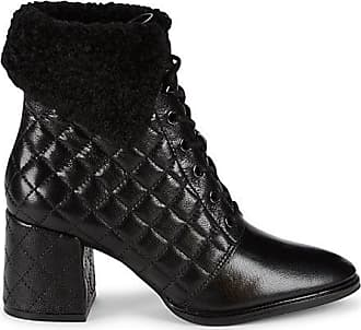 Karl Lagerfeld Cantyn Faux Fur & Quilted Leather Block-Heel Booties