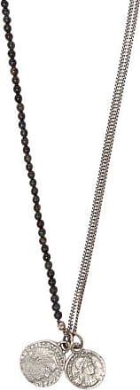 M. Cohen Tigers Eye And Sterling Silver Pendant Necklace - Mens - Silver Multi