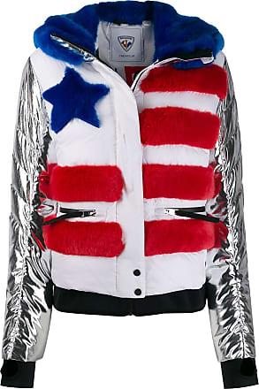 Rossignol x JCC contrast sleeve flag jacket - White