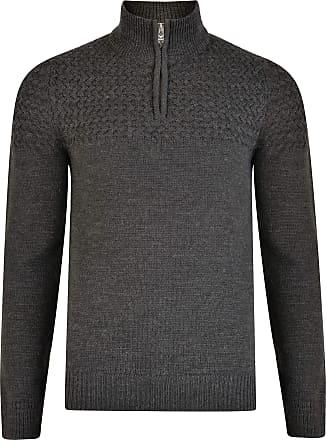 Cotton Medium Knit Grey Threadbare Julain Jumper Quarter Zip Neck