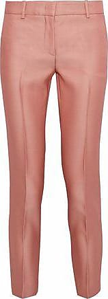 Emilio Pucci Emilio Pucci Woman Cropped Wool And Silk-blend Twill Slim-leg Pants Antique Rose Size 46