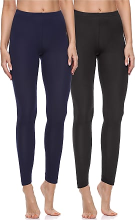 Merry Style Womens Long Leggings 2 Pack MS10-198 (Black/Navy, XL)
